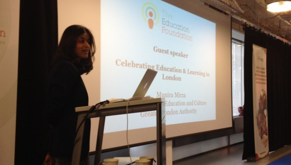 Munira Mirza keynotes at Education in London event
